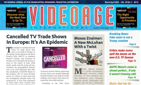 VideoAge, The Daily Televisionand DISCOP teamed up to produce VideoAge's L.A Screenings Guide 2020